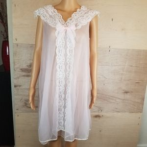 Vintage Couture Originals Lace Sheer Nightgown